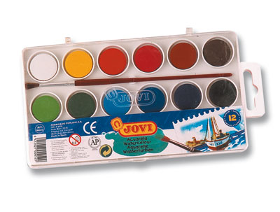 Box Watercolour paints 12 assorted bars Art. 800/12EAN. 8412027000529 22 mm 0.87 in 2.9g 0.10 oz
